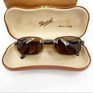 VTG Persol Polarized Brown Sunglasses Case 2061-S